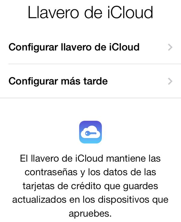 iCloud Keychain Setup