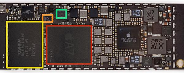 iPad mini Retina Desmontaje - Chip A7 - M7
