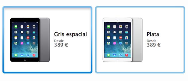 iPad mini Retina - Plata - Space Gray