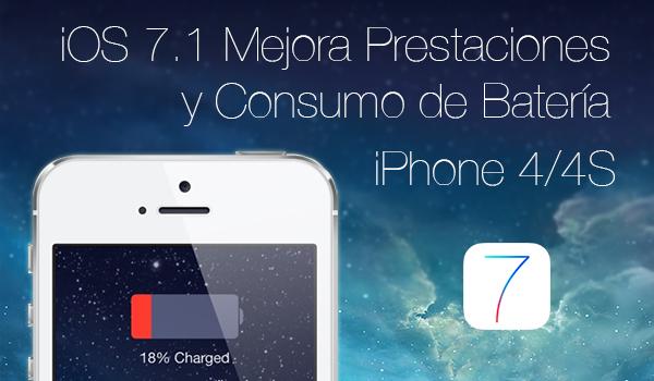 ios 7.1 mejor consumo bateria iphone 4:4s