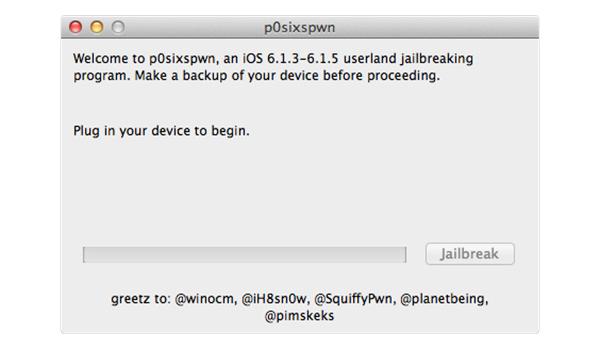 P0sixpwn Jailbreak iOS 6.1.X