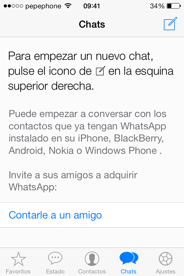 WhatsApp iOS 7 - Chats