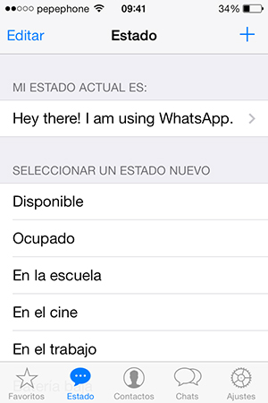 WhatsApp iOS 7 - Estado Actual