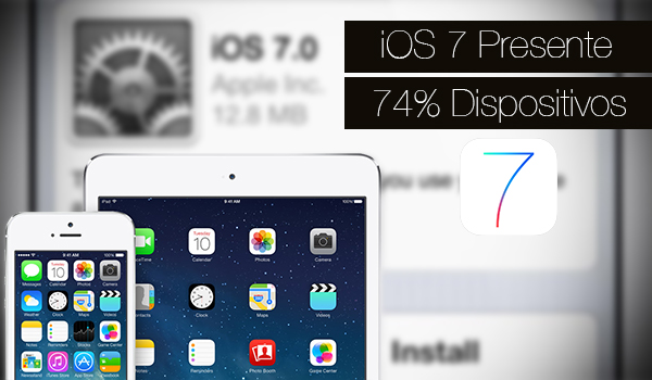 iOS 7 Disponible 74 Porciento iPhone iPad