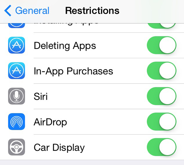 iOS 7.1 in the Car - Car Display
