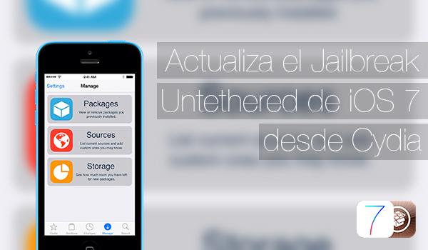 Actualizar Jailbreak iOS 7 Desde Cydia