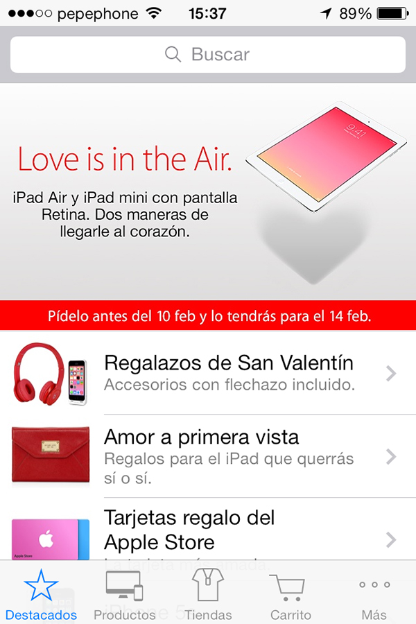 Apple Store - Regalos San Valentin