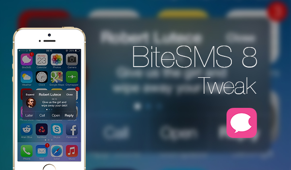 BiteSMS 8 iOS 7 - Tweak