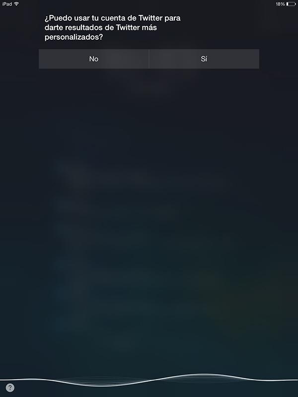 Buscar con Siri en Twitter - Configuracion