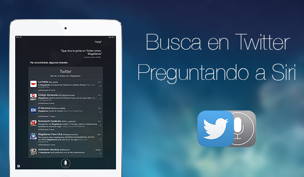 Buscar con Siri en Twitter