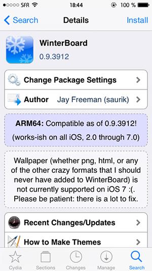 WinterBoard Cydia iOS 7