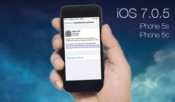 iOS 7.0.5 Disponible