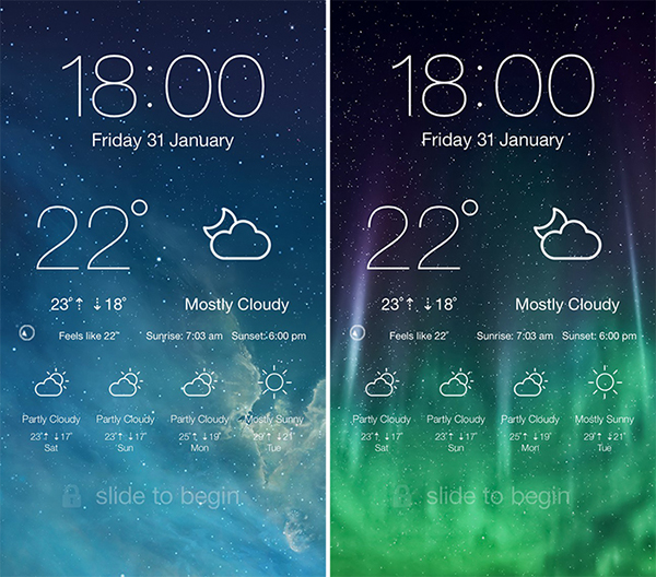 LockScreen Weather - screenshot