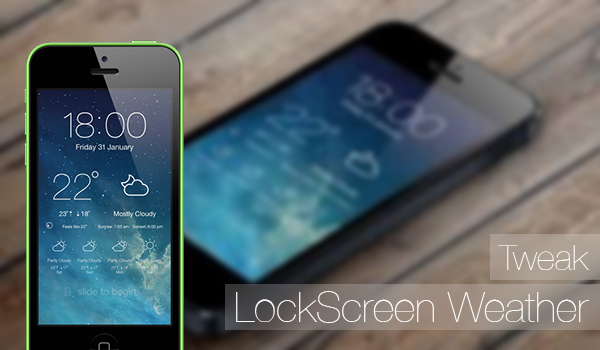 LockScreen Weather - tweak