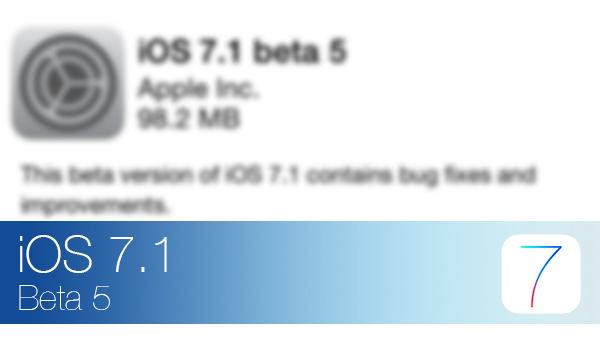 iOS 7.1 Beta 5 - Novedades