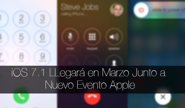 iOS 7.1 Evento Apple