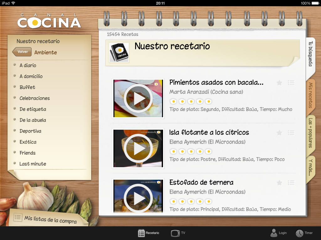 CanalCocina - screenshot 1