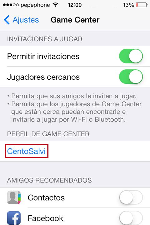 Cambiar Apodo Game Center - How To