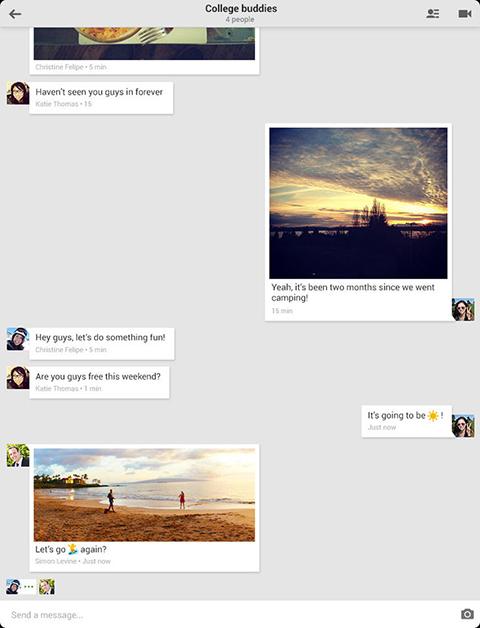 Hangouts iPad - Chat
