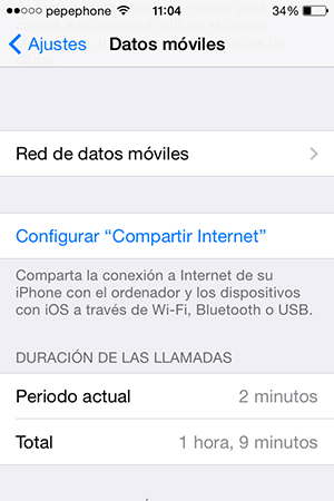 No Puedo Compartir Internet iPhone iOS 7.1 - screenshot 3