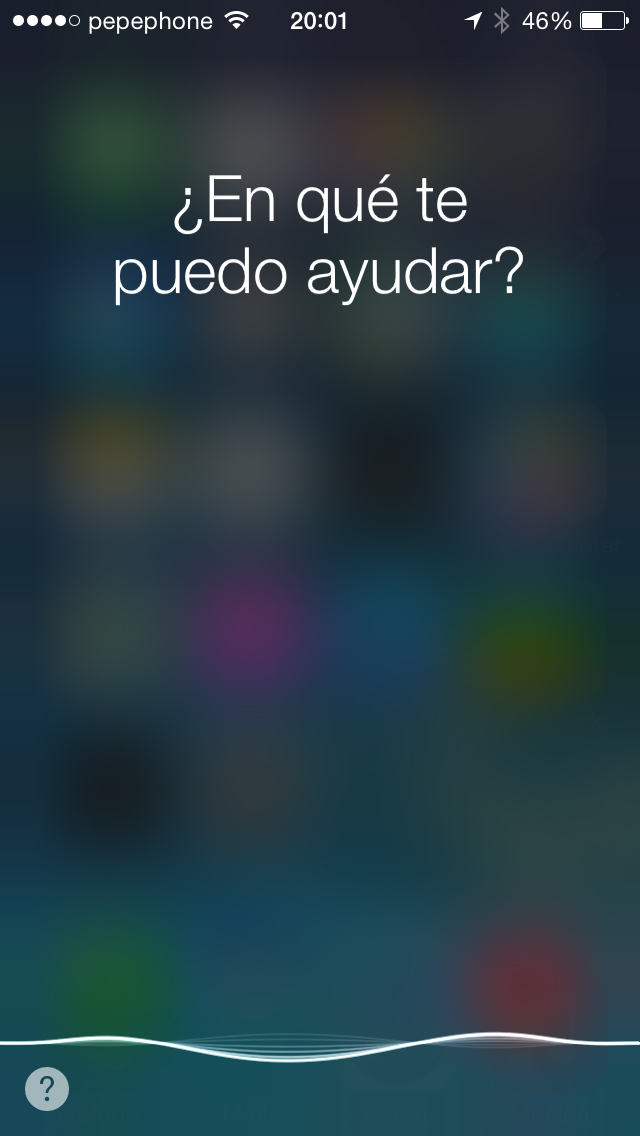Siri iOS 7.1 - screenshot 1