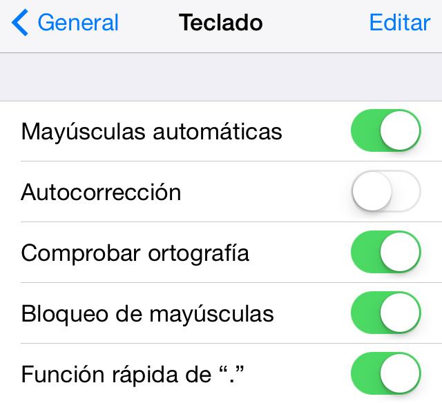 Teclado iOS - Como Desactivar Autocorreccion
