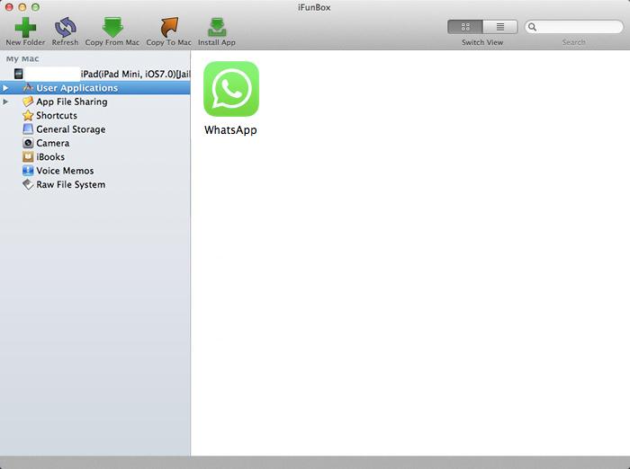 iFunbox Instalar WhatsApp iPad