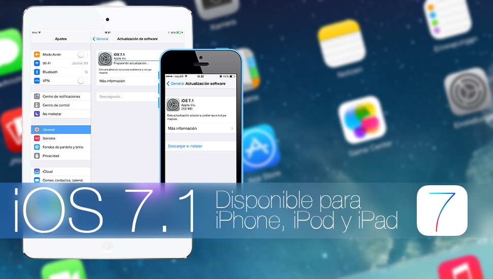 iOS 7.1 is available for iPhone, iPod touch, iPad and iPad mini 1