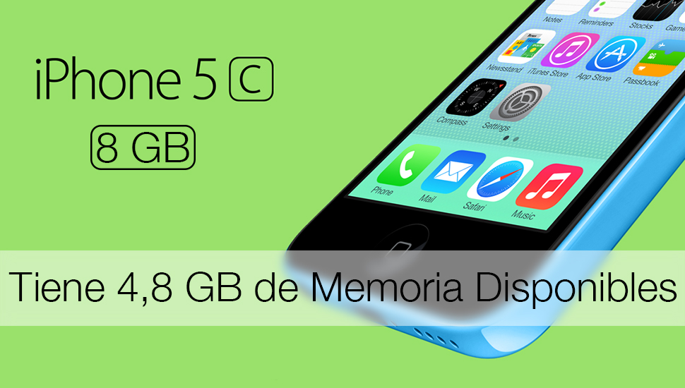 iPhone 5c 8 GB - Memoria Disponible