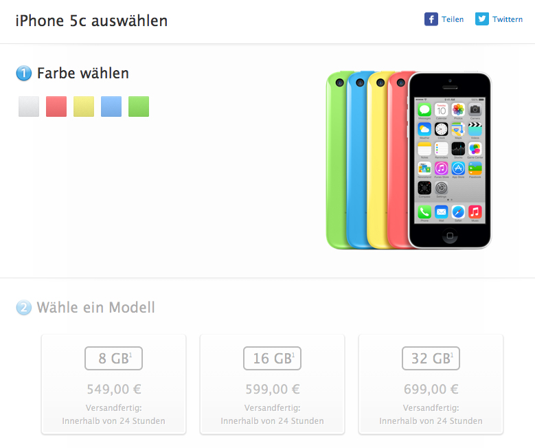 iPhone 5c 8GB Apple Store Aleman