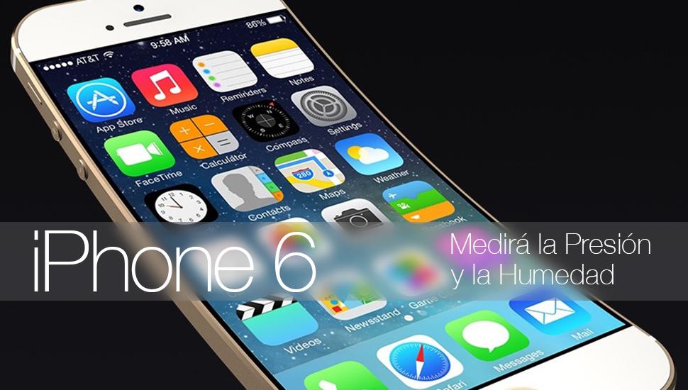 iPhone 6 Sensores Humedad Presion