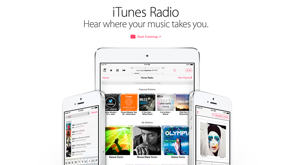 iTunes Radio iOS 7.1