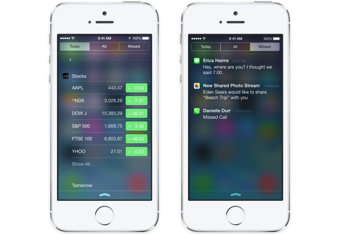 Centro Notificaciones - iOS 8 Rumor