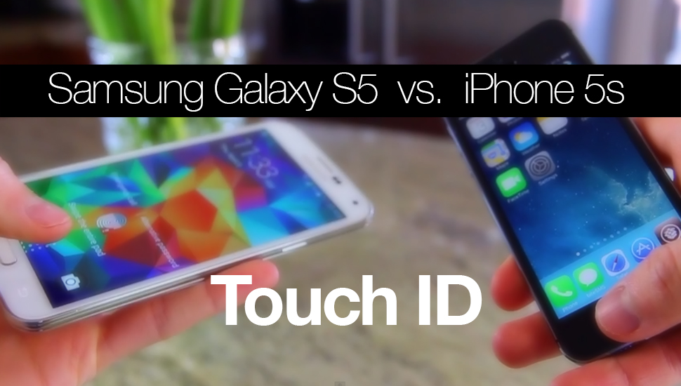 Comparativa Touch ID - GS5 iPhone 5s