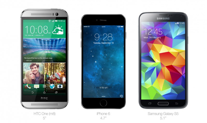 Comparativa-iPhone-6-One-M8-galaxy-S5