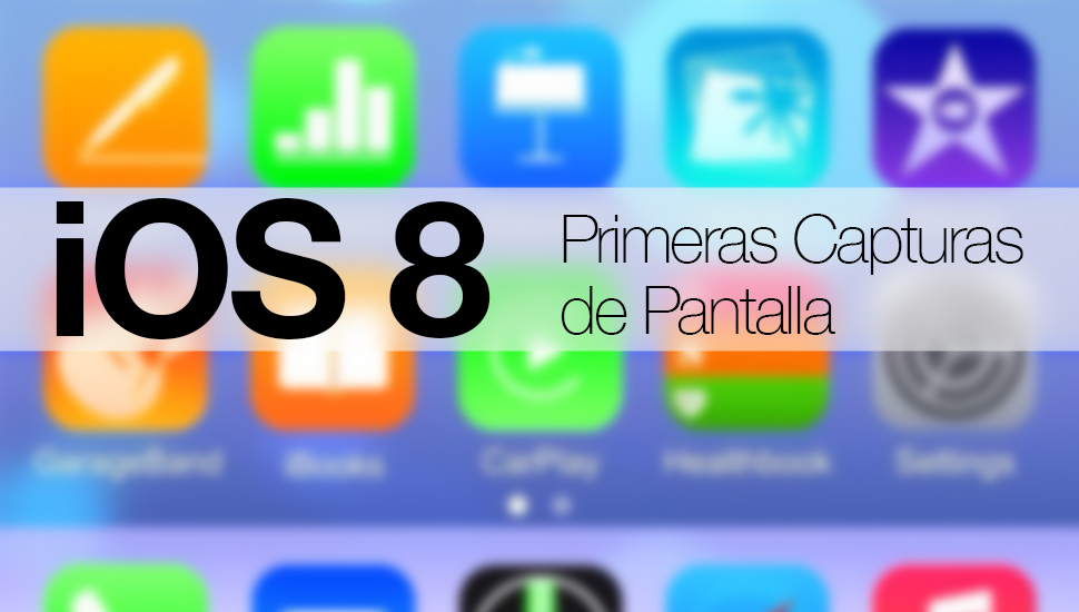 iOS 8 Captura Pantalla iPhone 6