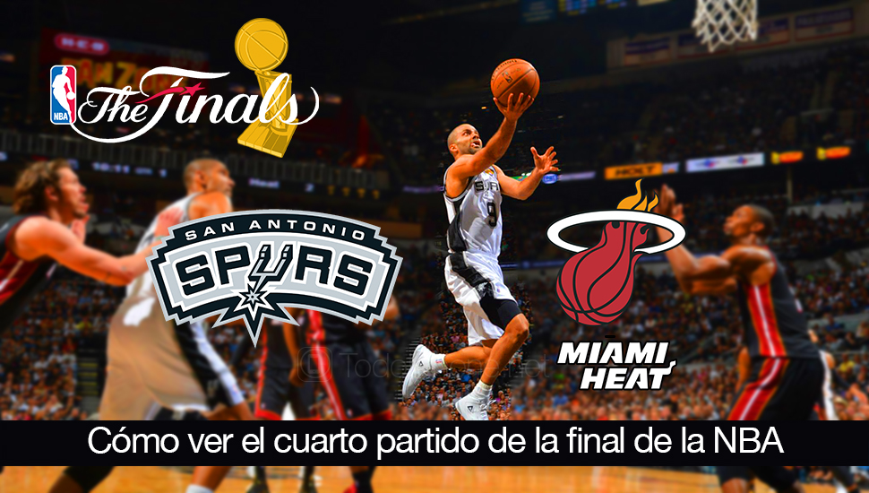 Ver-cuarto-partido-final-NBA-Heat-Spurs