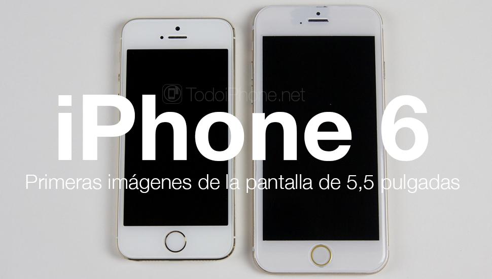 iphone 6 aparece la pantalla del modelo de 5 5 pulgadas