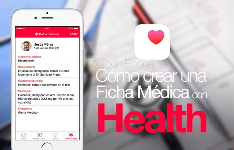 Cómo crear una ficha médica en la app Salud de iOS 8