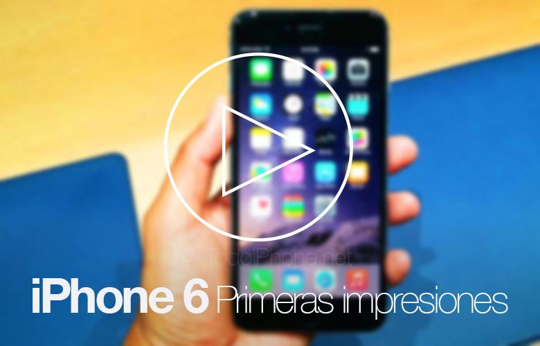 IPhone primera impresión 6 Y practica de video