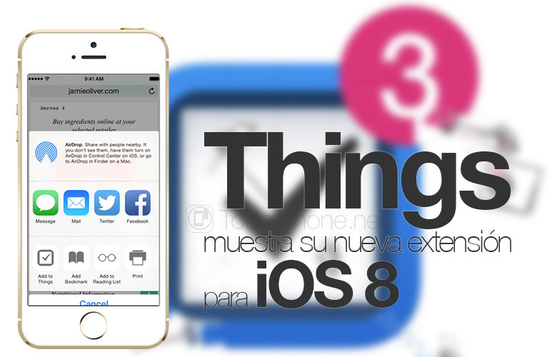 Things shows its new extension for iOS 8 on video 1