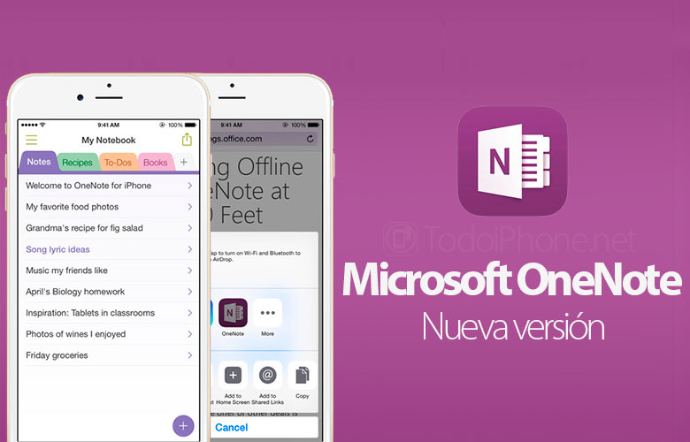 Microsoft updates OneNote for iPhone 6, iPhone 6 Plus and Touch ID 1