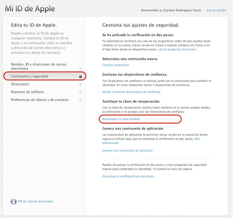 Cómo Cambiar La Clave De Recuperación De Tu Apple Id