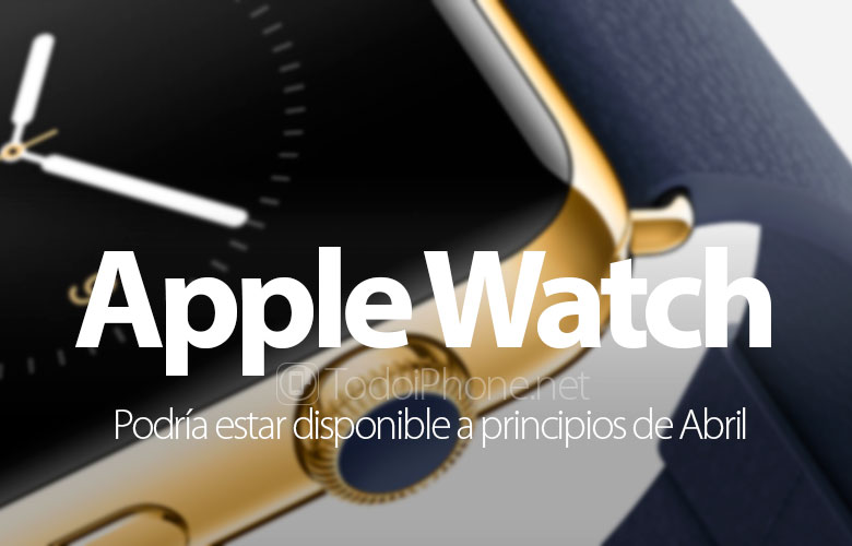Il Apple Watch peut être disponible début avril 1