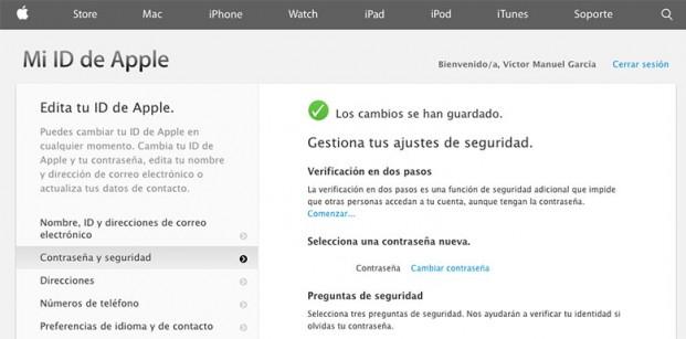 949e321a623 Cómo activar la verificación en dos pasos de Apple ID