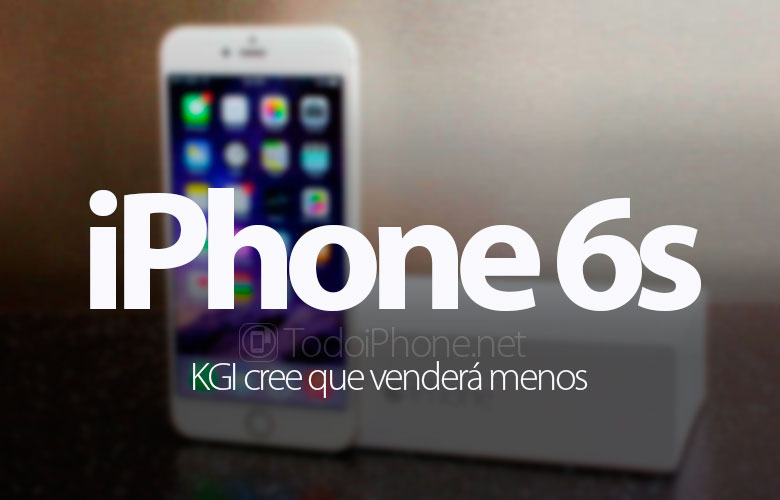 The iPhone 6s will sell little according to KGI 1