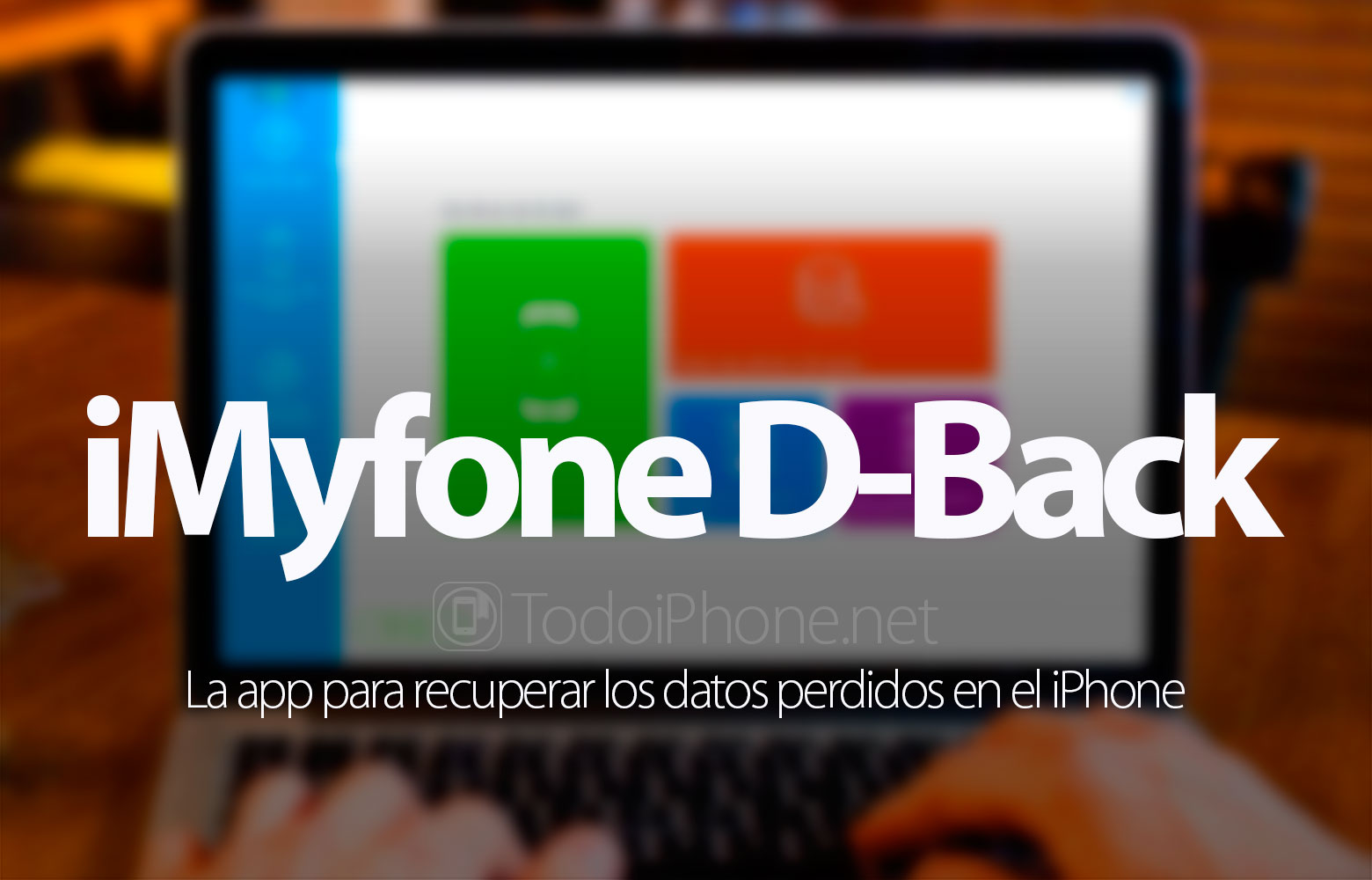 Recover lost data on iPhone? IMyfone D-Back test 1