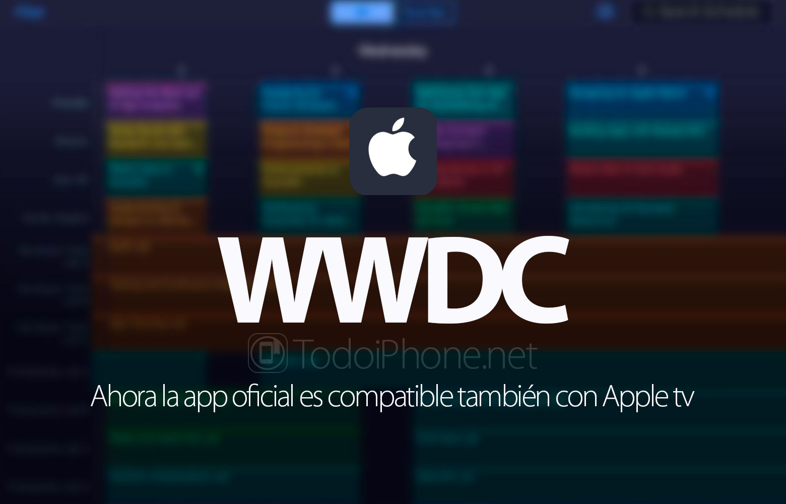 WWDC 2016, the official app now compatible with Apple TV 1